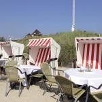 Speisen in Strandkörben